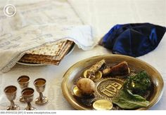 Passover Seder arrangement.
