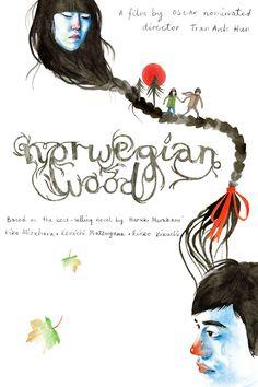 Haruki Murakami's Norwegian Wood - Poster by Heidi Burton