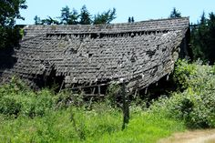 fallen barn on the way to la conner wa.