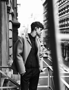 """Matthew Bell in """"New York State Of Mind"""" by Lachlan Bailey for the Fall Winter 2013-2014 issue of Man About Town magazine"""