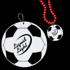 """Soccer 2 1/2 Plastic Medallion...Attach our 2 1/2"""" plastic Soccer Ball Medallion to mardi gras beads, leis and lanyards for a great way to show your love of the game. Priced per medallion. Beads NOT included."""