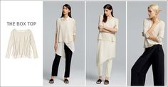 EILEEN FISHER Spring Icons Collection: The Box Top