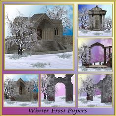 Winter Frost Backgrounds by Christine Hart Winter Frost Backgrounds beautiful winter themed backgrounds for all your creative design needs 8x8 300dpi