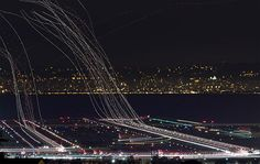 A one hour long - long exposure at the airport