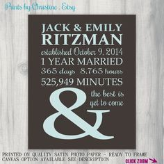First Anniversary Gift Personalized Gift Idea Wedding Anniversary Gift for Him Custom Art Print 1st Wedding Anniversary Gift For Him, Anniversary Gifts For Wife, Anniversary Gifts For Husband, Anniversary Dates, First Anniversary, Personalised Gifts For Husband, Personalized Gifts, Man Stuff, Post