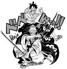 Luffy and Zoro . Luffy and Zoro . One Piece Figure, Zoro One Piece, One Piece Fanart, One Piece New World, One Piece Crew, Nami Tattoo, Tatuagem One Piece, One Piece Deviantart, One Piece Tattoos