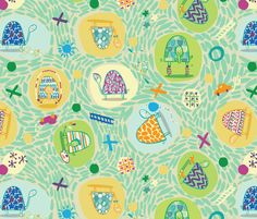 Tumbling Turtles fabric by gsonge on Spoonflower - custom fabric