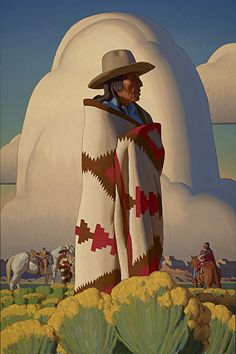 """Bound to Ramble"" oil Prix de West 2015 - Logan Maxwell Hagege Native American Artwork, Native American Artists, American Indian Art, Navajo Art, Southwestern Art, Into The West, Cowboy Art, Jackson, Environment Concept Art"