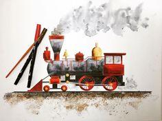 Watercolor art using @tombowusa Dual Brush Pens