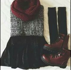burgundy combat boots outfits - Google Search    Perf for fall