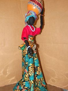 Items similar to Sherika Statue High Praise collection Thema on Etsy African Dolls, African American Dolls, African Crafts, Homemade Dolls, Living Dolls, Doll Quilt, Afro Art, African Beauty, Fabric Dolls