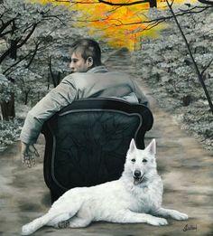 Johanne Cullen - On My Road,  oil on canvas.