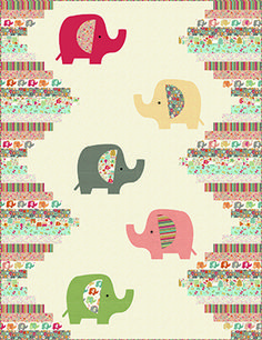 Free Quilt Patterns Panel Quilts, Quilt Blocks, Dumbo Nursery, Elephant Quilt, Andover Fabrics, Quilt Patterns Free, Digital Pattern, Quilting Designs, Baby Quilts