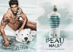 Le Beau Male by Jean-Paul Gaultier featuring Kaylan Falgoust. JPG Ad by BBDO BEAU  New fragrance to be released March 2013