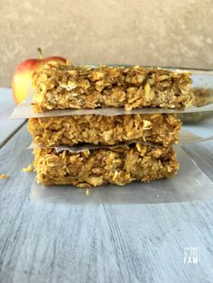 Apple Peanut Butter Oat Bars
