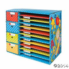 classroom sorter. Would be great for each kiddo to have a shelf!