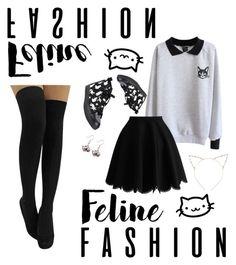 """feline me up!"" by nerdyinpink on Polyvore"