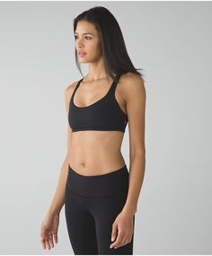 Open neckline and strappy back to give you plenty of room to flow, twist and sweat through any yoga class.Lululemon Free To Be Bra (Wild)