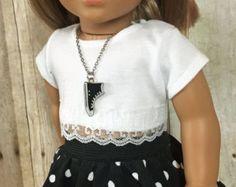 18 inch Doll Clothes American Girl Black Organza by nayasdesigns