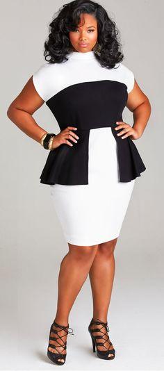 """Anita Marshall in """"CECELIA"""" PEPLUM PONTE DRESS #BBBG"""