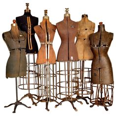 Early Century Dress Forms Set of Six by unearthedgallery Old Dresses, Vintage Dresses, Vintage Outfits, Vintage Fashion, Vintage Mannequin, Dress Form Mannequin, Vintage Laundry, Vintage Sewing, Modern Decorative Objects