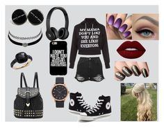"""""""casual"""" by band-freak101 ❤ liked on Polyvore featuring Topshop, Converse, Beats by Dr. Dre, Marc Jacobs, Charlotte Russe, Pomellato and Lime Crime"""