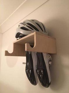 Handmade Birch Ply Wooden Bike Rack, Wall Mounted Hook, Bike shelf designed for simple bike storage. Indoor Bike Storage, Indoor Bike Rack, Diy Bike Rack, Bike Hooks, Bike Storage Rack, Bike Shelf, Diy Shoe Storage, Bicycle Rack, Bike Racks For Garage