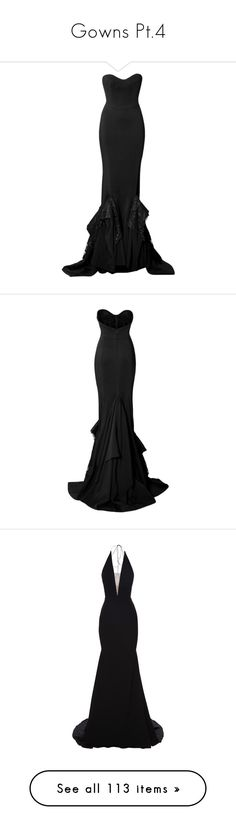 """""""Gowns Pt.4"""" by amalilly619 ❤ liked on Polyvore featuring dresses, gowns, long dresses, black, fishtail gown, strapless ball gown, strapless long dresses, sweetheart long dress, zuhair murad gowns and strapless gown"""