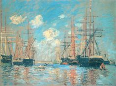 The+Sea,+Port+in+Amsterdam,+1874+-+Claude+Monet