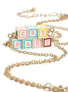 Melanie Martinez Cry Baby Block Letter Necklace SetMelanie Martinez Cry Baby Block Letter Necklace Set,