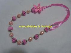 7527038f3659 DIY  collar elaborado paso a paso con cintas y perlas Collares De Perlas  Largos