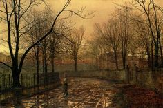 Sixty Years Ago - Grimshaw, John Atkinson (British, 1836 - Fine Art Reproductions, Oil Painting Reproductions - Art for Sale at Bohemain Fine Art Pierre Auguste Renoir, Glasgow, Liverpool, Atkinson Grimshaw, Carl Spitzweg, Antoine Bourdelle, Fairy Pictures, City Scene, Oil Painting Reproductions