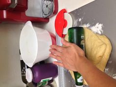 No rolling pin? Ingenious mother. Brough on by sudden craving for taro/ube bread.
