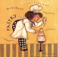 Pastry Chef by Stephanie Marrott art print