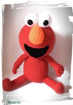 Meska - Elmo horgolt amigurumi Galagonyatanya kézművestől