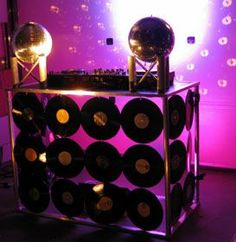 This DJ booth is lit and prepared to play all the hottest jams.