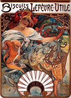 Biscuits Lefèvre-Utile. 1896