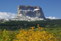 Chief Mountain | Chief Mountain in Glacier National Park. Example of a Klippe.  Precambrian Rocks were overthrust on top of Cretaceous rocks.  The surrounding Precambrian rocks were eroded away, leaving Chief Mountain in its majestic form.