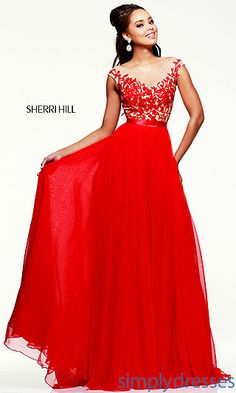 Sherri Hill Red Evening Gown for Prom at SimplyDresses.com