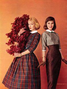 Fifties Fashion, Modest Fashion, Retro Fashion, Girl Fashion, Vintage Fashion, Moda Vintage, Vintage Vogue, Vintage Dresses, Vintage Outfits