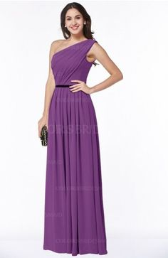Dahlia Traditional A-line One Shoulder Chiffon Floor Length Plus Size Bridesmaid Dresses