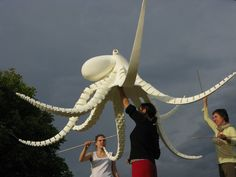 Octopus puppet that I originally designed for Linz, Austria for their public participation workshops in 2011