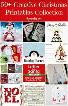 •❈• 50+ Creative Christmas Printables Collection