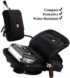 Black Swiss Protective Durable Camera Pouch With Removable Neck Strap For Nikon Coolpix S3100 / S3300 / S4100 / S4300 / S5100 / S6100 / S6200 / S6300 / S70 / S80 / S8100 / S8200 / S9300 Compact Point and Shoot Photo Camera by eBigValue. $16.95. Swiss Leatherware Traveler is the perfect companion for your adventures. The main zippered pocket is large enough to easily fit most PDA's, large smartphones, MP3 players, or even compact cameras. Two additional pockets can be fou...