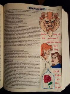 Terra Ragan: Bible Journal - 1 Samuel 16:7 Beauty and the beast Disney