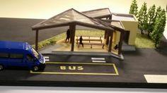 Modellino di una pensilina per autobus  alessio sonori 3a anno 2014 2015