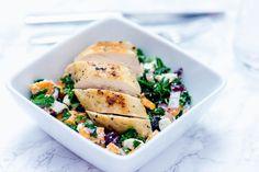 Lun grønnkålsalat med kylling
