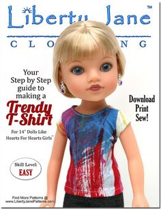 FREE T-Shirt for H4H Dolls - http://www.pixiefaire.com/collections/hearts-for-hearts-dolls/products/free-t-shirt-for-h4h-dolls