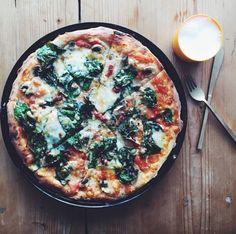 Pizza bild uppifrån