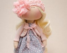 Ronnie Doll-Handmade Doll-Textile от BroderieLittleCorner на Etsy
